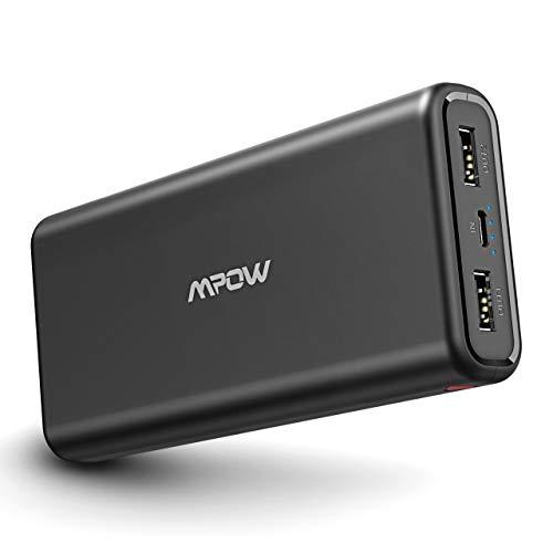 Mpow Bateria Externa Movil 20000mAh, Power Bank Ultra Capacidad Cargador Portátil Móvil con 2 Puertos USB, Universal para iPhone/iPad Air, Samsung Galaxy, Huawei Dispositivos Android Tablets y Más