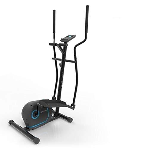 KLAR FIT Myon Cross - Vélo elliptique, Volant d'inertie 12 kg, SilentBelt System, Noir