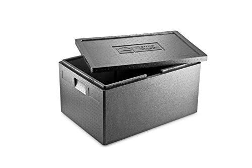 thermohauser EPP-Thermobox Universal schwarz, mit Deckel, 80 L