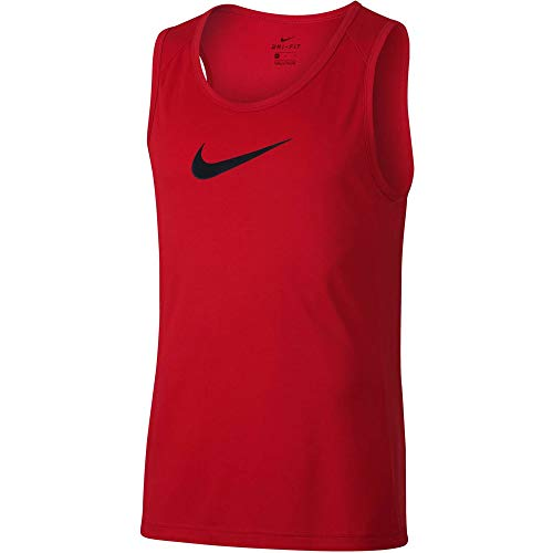 NIKE M NK Dry Top SL Crossover BB Camiseta sin Mangas de Baloncesto, Hombre, Rojo (University Red/Black)