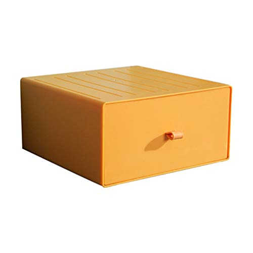 Cabilock Skrivbordsarrangör Fåfänga Smink Förvaringslåda Smycken Förvaringsfodral Kosmetiska Lådor Skrivbord Diverse Behållare För Badrum Byrå Bänk 20X20x10cm Gul