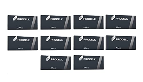 Duracell 100X Procell Industrial MN2400 - batterie di ricambio originali, alcaline, LR04, AAA