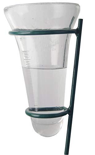 Esschert Design Regenmesser Niederschlagsmesser mit grüner Haltestange NEU