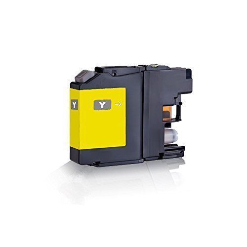 1x kompatible Tintenpatrone für Brother Yellow LC121 LC123 MFC J245 MFC J4310 DW MFC J4410 DW MFC J4510 DW MFC J4610 DW MFC J4710 DW MFC J6520 DW MFC J6720 DW - Eco Office Serie