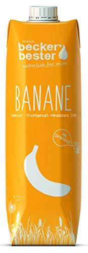 Beckers bester Bananen-Nektar Tetrapak EW, 1 ltr (6er Pack)
