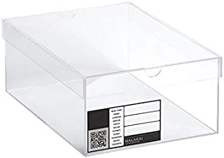 MALAKAI – Boîte sneakers transparente, en plexiglass, Sneakers box plexiglas, Rangement chaussures, Gain de place, Exposit...
