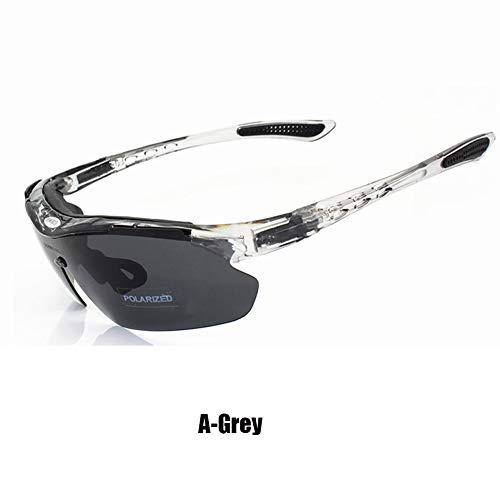 Gafas Sol Polarizadas Unisex, Gafas Seguridad HD, Antideslumbrantes/Prueba De Rayos UV/Prueba De Viento, Adecuadas para Ciclismo, Conducción, Pesca, Golf, Incluidas Lentes De 5 Piezas (A,5)