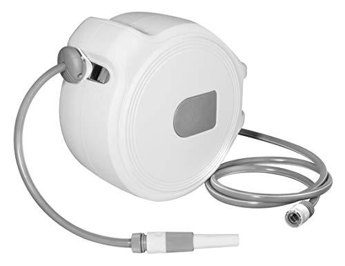 Güde 93902 Automatik Schlauchtrommel 20-2-1 1/2 Zoll (2 Schnellverschlusskupplungen, Wasserspritze, Gewebeschlauch)