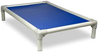 Kuranda Dog Bed - Chewproof Design - Almond PVC - Indoor/Outdoor - Elevated - High Strength PVC - Easy to Clean - Dries Quickly - Heavy Duty Vinyl Fabric