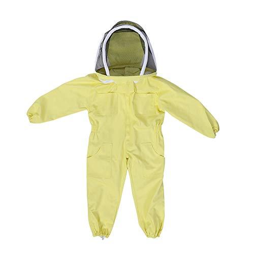 Zerodis Imkerei Anzug mit Schleier Bienenzucht Werkzeuge Zubehör Imkerei Ausrüstung für Kinder Baumwolle Langarm Kinderschutz(M)