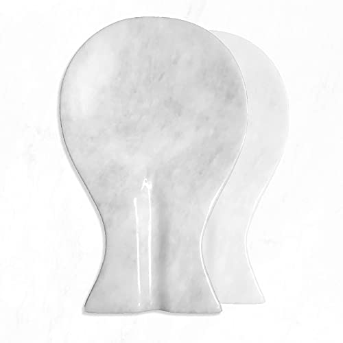 Luxury Handmade White Marble Spoon Rest for Kitchen Counter, Best Spatula Holder for Kitchen Accessories & Housewarming Gifts.