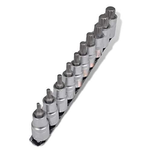"""Bosch Clés à Douille Set 9 Pièces 3//8/"""" 30 mm Douille Hexagonal Vis 2608551098"""