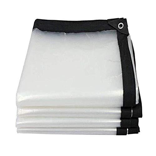 LLCXL Transparant dekzeil waterdicht, transparante zeilen avec Oeillet MéTallique roosterafdekking twee-draad-design sterk en duurzaam scheurvastheid, transparant 2 x 3 m/6 x 9 ft