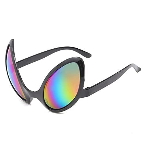 Funny ET - Gafas de sol para disfraz con lentes de arco iris, accesorios para fiestas de Halloween, accesorios para adultos y niños