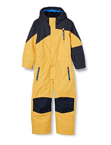 Killtec Unisex Kinder Kesley Mini Skioverall Mit Kapuze Und Schneefang, gebranntes gelb, 86/92