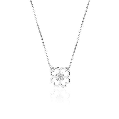Collar de diamantes o cadena de oro para mujer Zlocisto Muestra585 , con diamantes talla brillante 0,02ct H/Si