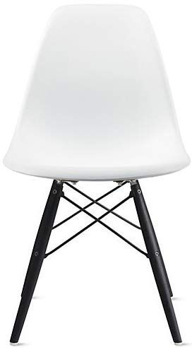2xhome White - Plastic Molded Bedroom Dining Side Ray Chair...