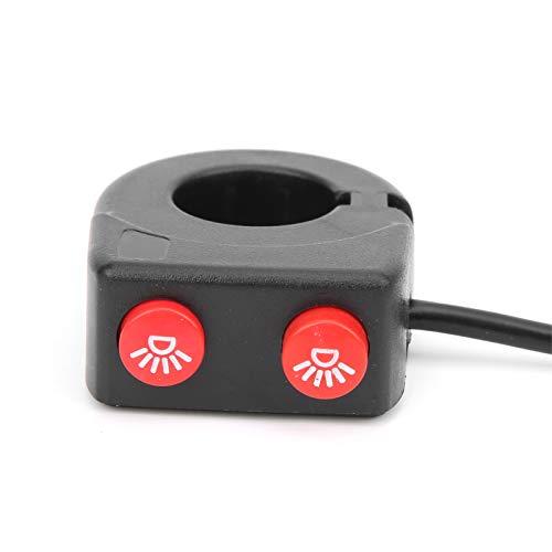 Tomanbery Faro de Motocicleta Interruptor de Faro de Encendido/Apagado Universal Controlador de luz Accesorio de Motocicleta