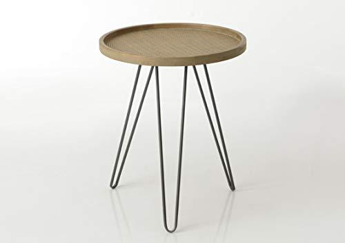 Amadeus - Table Basse Ronde en rotin 60x50 cm