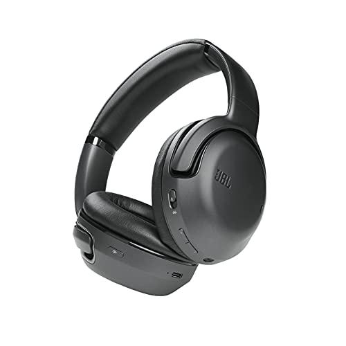 JBL Tour One - Auriculares Over Ear inalámbricos con cancelación adaptativa de Ruido, tecnología Bluetooth, tecnología de 4 micrófonos para Realizar Llamadas de Voz precisas y nítidas, Negro