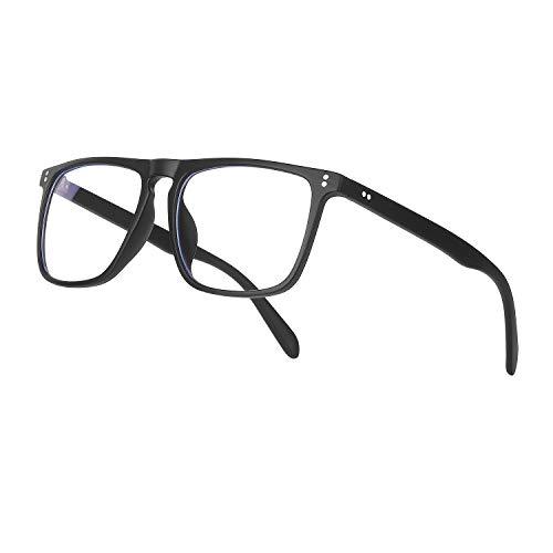 Ollrynns Gafas Luz Azul Lentes Antirreflejos para Ordenador Gaming Lectura Video, Gafas con Filtro de luz Azul para Hombre Mujer (627 Negro)