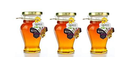 3x 240g Set (720g) - kretischer Honig von Thymian, Kräutern & Nadelbäumen in Amphore - Kreta - beliebter griechischer Bienenhonig