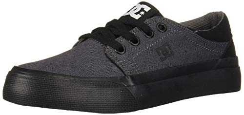 DC Boys' Trase TX SE Skate Shoe, Black/Armor, 4 M M US Big Kid