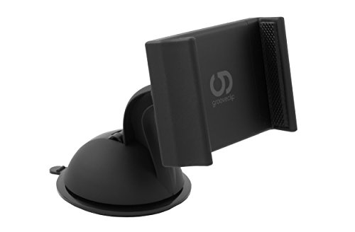 grooveclip® Dash Slider | KFZ-Halterung mit Power-Gel-Pad Saugnapf – bombenfest! | Perfekt für Windschutzscheibe oder Armaturenbrett | mit Slider-Technologie Halterung | für Smartphone, Navi, GPS