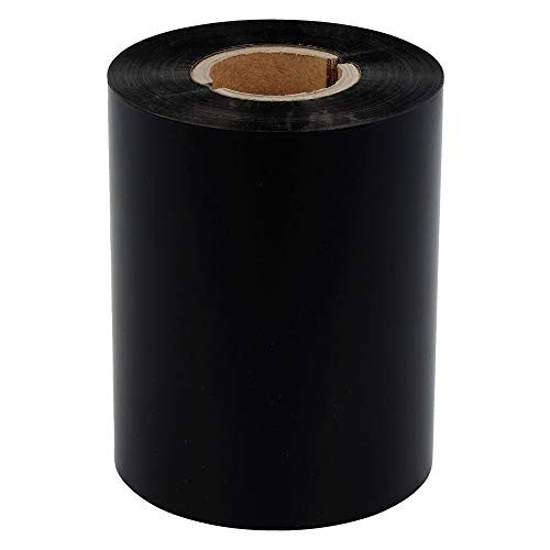 Labelident Thermotransfer Eco Wachs Farbband Innenwicklung, schwarz - 110 mm x 300 m - für matte Papieretiketten, 1 Zoll Rollenkern, für Etikettendrucker 4 Zoll Druckbreite