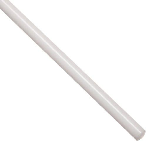 Acetal Copolymer Round Rod, Opaque Off-White, Standard Tolerance, ASTM D6778, 1 4  Diameter, 24  Length