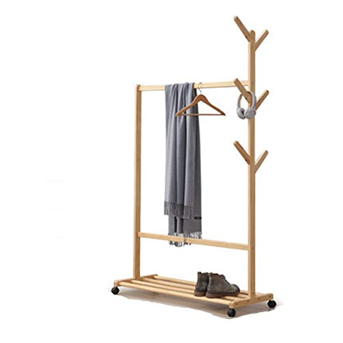 Clothes Garment Rack Fallen Land For The Bedroom Clothes Hanger Clothes Hanger for Bedroom Entrance (Color : Natural, Size : 178.5x40x95.5cm)