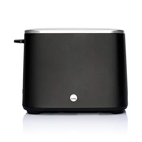 Tostadora Wilfa CLASSIC - De acero inoxidable, ajustes de temperatura regulables con función de descongelación, recalentamiento y apagado, negra