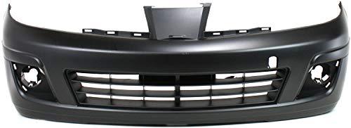 Front Bumper Cover for NISSAN VERSA 2007-2012 Primed with Fog Light Holes Hatchback/Sedan