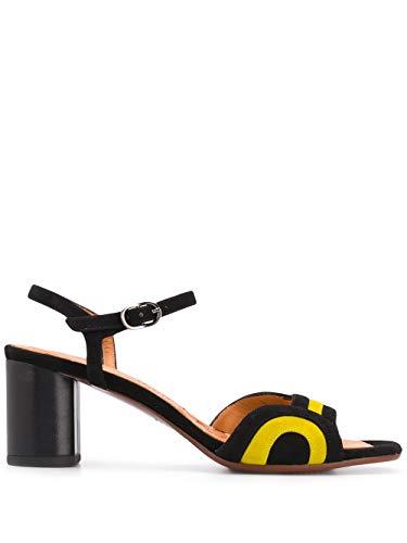Chie Mihara Sandali Bicolore LOSMA a Tacco Basso con Chiusura alla Caviglia. Dimensione: 37 EU