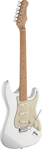 Stagg SES50M Vintage Style Electric Guitar with Solid Alder Body - Cream White