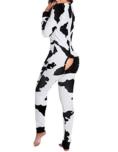 Pijamas Sexis para Mujer, Conjunto De Pijamas, Monos, Botones Impresos, Botones Funcionales, Funda Abatible, Pijamas para Adultos, Servicio A Domicilio