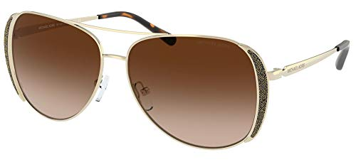 Michael Kors Gafas de Sol CHELSEA GLAM MK 1082 Gold/Brown Shaded 58/13/140 mujer