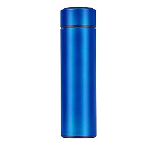 Intelligente Edelstahl-Trinkflasche, auslaufsicher, doppelwandig, hält Getränke heiß und kalt, LCD-Temperaturanzeige – a1, Bürste