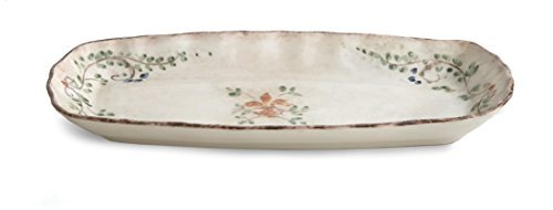 Arte Italica Medici Rectangular Tray, Cream by Arte Italica
