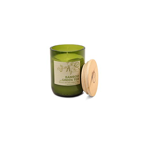 Paddywax Eco Collection Scented Soy Wax Jar Candle, 8-Ounce, Bamboo & Green Tea