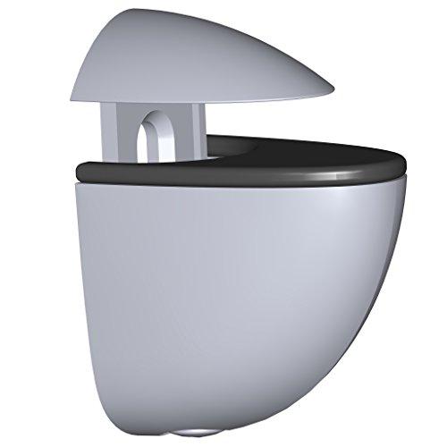 Element System 11050-00003 Regalbodenträger MINI / 2 Stück/Glas-Holzbodenträger/chrom / 5 Farben