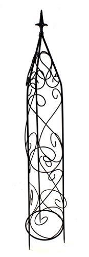 DARO DEKO Metall Rankhilfe Obelisk schwarz 1 Stück - S - 105cm