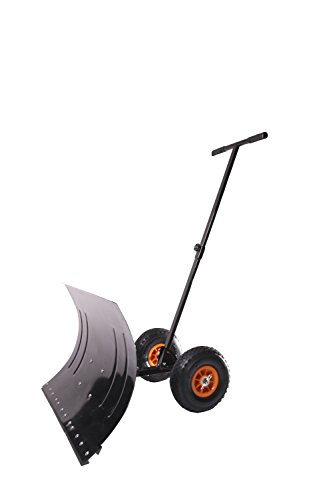 MD Sales Force Premium Snow Shovel, Wheeled Snow Pusher, Durable Wheeled Snow Pusher - Time and Energy Saving Snow Removal Tool