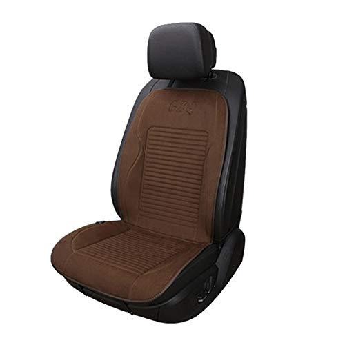 RALC - Cojín para asiento de coche con calefacción, 12 V con controlador de temperatura inteligente y almohadilla calefactora para coche SUV (marrón)