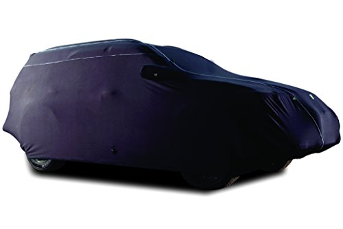 TPH MICROLITE Smooth Velvet Finished Customized fit Semi-Outdoor BLACK Car Cover with White Piping for Jeep Grand Cherokee