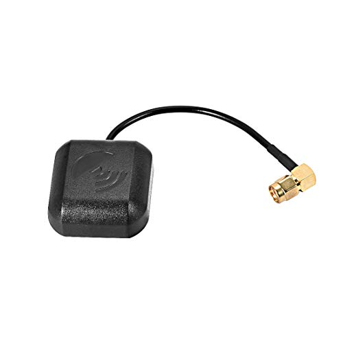 uxcell GPS Active Antenna 90-Degree SMA Male Plug 28dB Aerial Connector Cable Magnetic Mount 0.1 Meter
