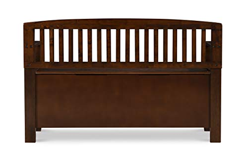 "Product Image 6: Linon Home Dcor Linon Home Decor Cynthia Storage Bench, 50""w x 17.25″d x 32″h, Walnut"