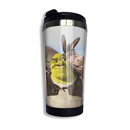Anime Shrek Cup - Taza de café aislada al vacío (acero inoxidable 304, 400 ml)