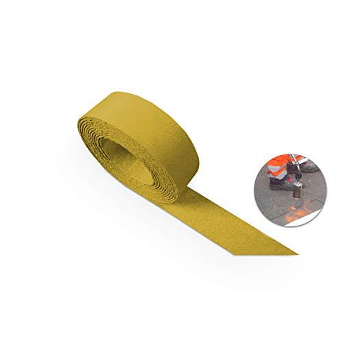 Betriebsausstattung24® Thermoplastische Bodenmarkierung |Fahrbahnmarkierung | Markierungsbandrolle | Zur Kennzeichnung von Verkehrswegen | Thermoplastik