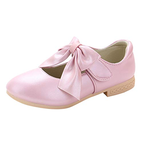 Kaister Baby Mädchen Prinzessin Bowknot Rutschfest Weiche Sohle Krabbelschuhe Rosa Leather Bowknot Single Princess Shoes Sandals